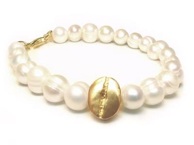 Coffee And Cream Bracelet Gold